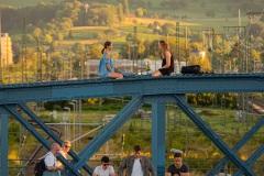Sommerabend auf der Wiwili Brücke