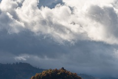 Staufener Burg im Herbstsonnenschein